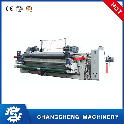 Rotary Veneer Peeling Machine 8 Feet Hydraulic Spindle-less