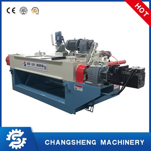 Spindleless Veneer Peeling Machine Capable of Removing Bark