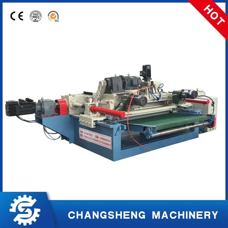 The use of inverter in spindle less veneer peeling machine